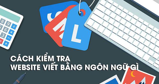 Cách kiểm tra website viết bằng ngôn ngữ gì?